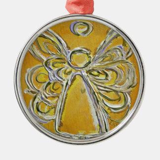 Ornamento amarillo de la pintura del arte del ánge ornatos