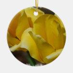 Ornamento amarillo de los tulipanes ornamentos de navidad