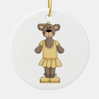 Ornamento amarillo del día de fiesta del oso de la ornamento para reyes magos