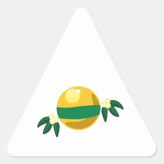 Ornamento amarillo calcomanías de triangulos personalizadas