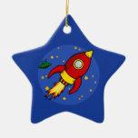 Ornamento amarillo rojo de Rocket Adorno De Reyes