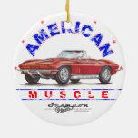 Ornamento americano 1967 del navidad del músculo d ornamentos para reyes magos
