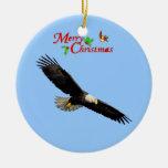 Ornamento americano del navidad de Eagle calvo Adorno De Navidad