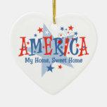 Ornamento americano del Sparkler Ornamentos De Navidad