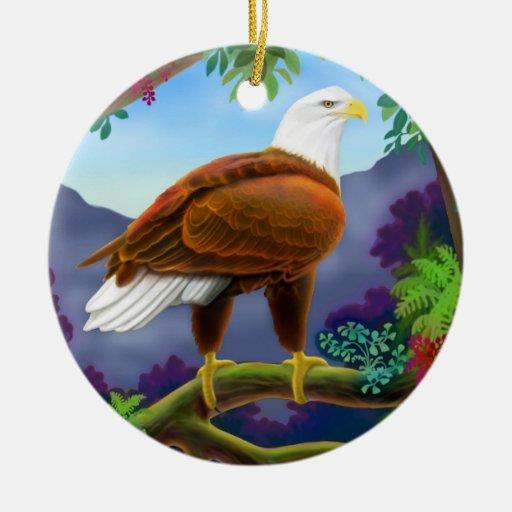 Ornamento americano majestuoso de Eagle calvo Ornamento De Navidad