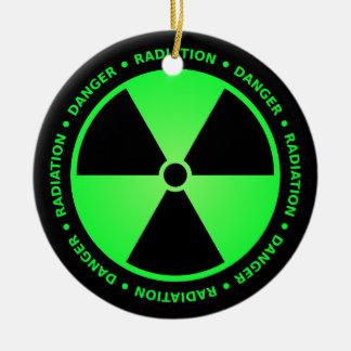 Ornamento amonestador de la radiación verde adorno redondo de cerámica