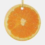 Ornamento anaranjado de la rebanada ornamentos de reyes