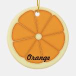 Ornamento anaranjado ornamento para arbol de navidad