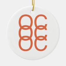 Ornamento anaranjado del blanco OC Ornamente De Reyes