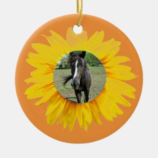 Ornamento animal del girasol de los amigos ornaments para arbol de navidad