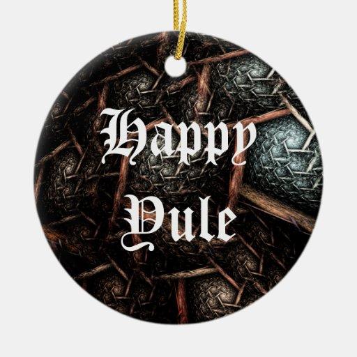 Ornamento anticuado del día de fiesta del adorno navideño redondo de cerámica