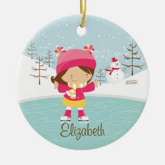 Ornamento anticuado del navidad del chica del pati adorno para reyes