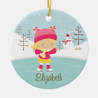 Ornamento anticuado del navidad del chica del pati ornamento para reyes magos