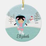 Ornamento anticuado del navidad del chica del pati adorno de navidad