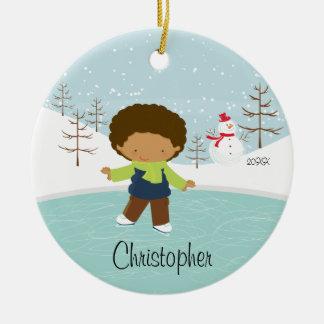 Ornamento anticuado del navidad del muchacho del p ornamente de reyes