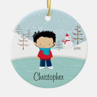 Ornamento anticuado del navidad del muchacho del p ornamento de navidad