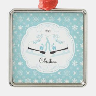 Ornamento anticuado patinador del navidad de los adorno