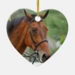 Ornamento árabe del caballo de la bahía adornos de navidad