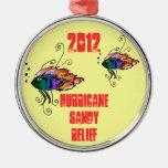 ornamento arenoso 2012 del alivio del huracán ornato