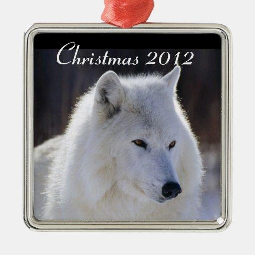 Ornamento ártico del lobo ornamentos de reyes
