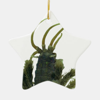 Ornamento asteroide del navidad del gusano de adorno de cerámica en forma de estrella