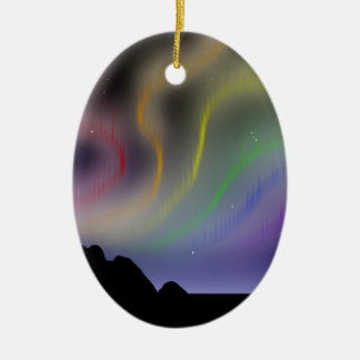 Ornamento: Aurora boreal del arco iris Ornamento Para Reyes Magos
