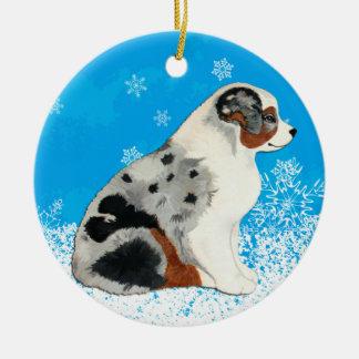 Ornamento australiano de la nieve de los perritos ornamente de reyes