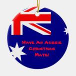 Ornamento australiano del navidad adorno redondo de cerámica