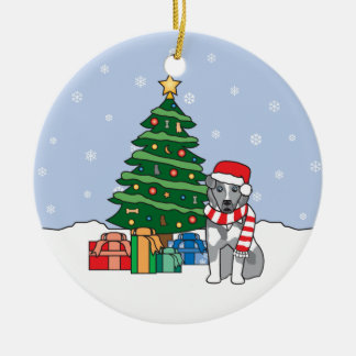 Ornamento australiano del navidad del perro del ornamentos de navidad