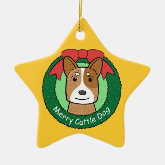 Ornamento australiano del perro del ganado ornamentos de navidad