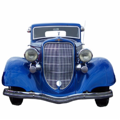 Ornamento auto azul del vintage escultura fotográfica