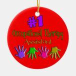 Ornamento auxiliar del navidad de la terapia profe ornamento para arbol de navidad