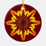 Ornamento azteca del navidad del pájaro de Sun Adorno Para Reyes