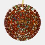 ornamento azteca maya del calendario ornamentos de reyes