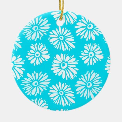 Ornamento azul claro de las flores