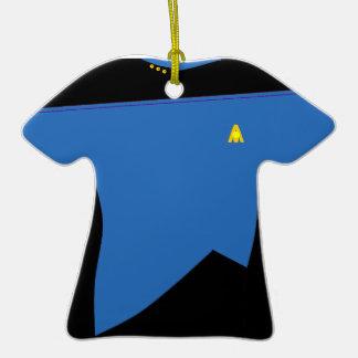 Ornamento azul de la camisa de MoonBase Ornamento Para Arbol De Navidad