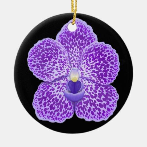 Ornamento azul de la flor de la orquídea de Vanda Ornamente De Reyes
