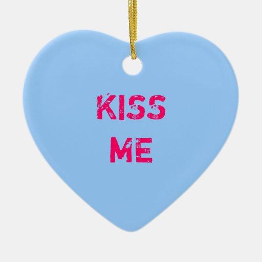 Ornamento azul de la foto del corazón de la conver ornamento para arbol de navidad