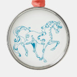 Ornamento azul de la suposición del caballo ornamente de reyes