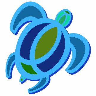 Ornamento azul de la tortuga de mar adorno fotoescultura