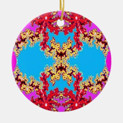 Ornamento azul de Mandle Ornamento De Navidad