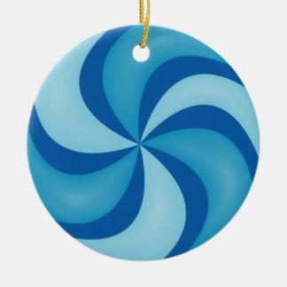Ornamento azul del caramelo de Swirly