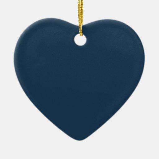 Ornamento azul del corazón del Nilo Adorno Navideño De Cerámica En Forma De Corazón