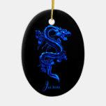 Ornamento azul del dragón adorno de reyes