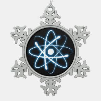Ornamento azul del empollón del átomo del respland adorno