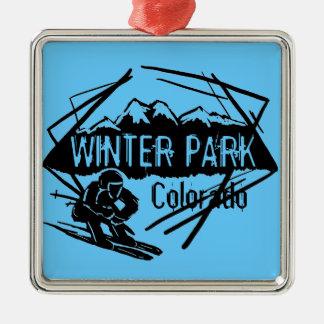 Ornamento azul del esquí del tema de Colorado del Ornamento De Reyes Magos