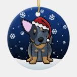 Ornamento azul del navidad de Heeler del dibujo an Ornamentos De Reyes