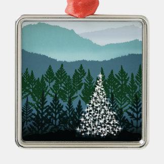 Ornamento azul del navidad de Ridge Adorno Navideño Cuadrado De Metal