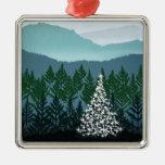 Ornamento azul del navidad de Ridge Adorno De Reyes