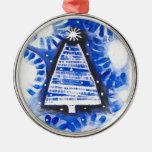 Ornamento azul del navidad ornamentos de reyes